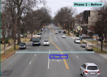 Project Example: East Boulevard Road Diet : Complete Streets NC